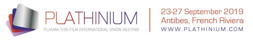 Plathinium 2019, 23-27 september 2019, Antibes (FR)